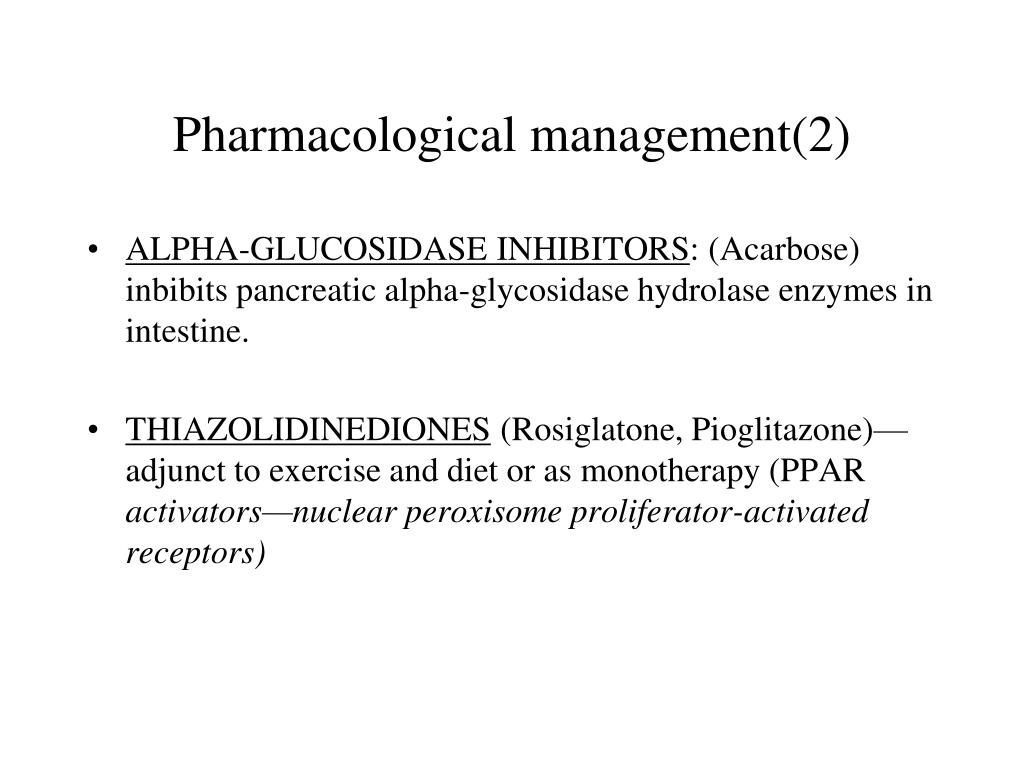 Pharmacological management(2)