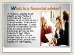 w hat is a financial advise
