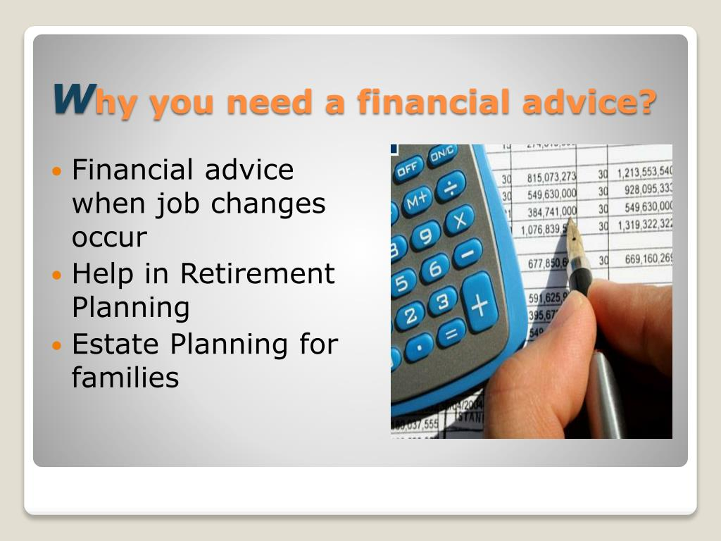 Financial advice when job changes occur