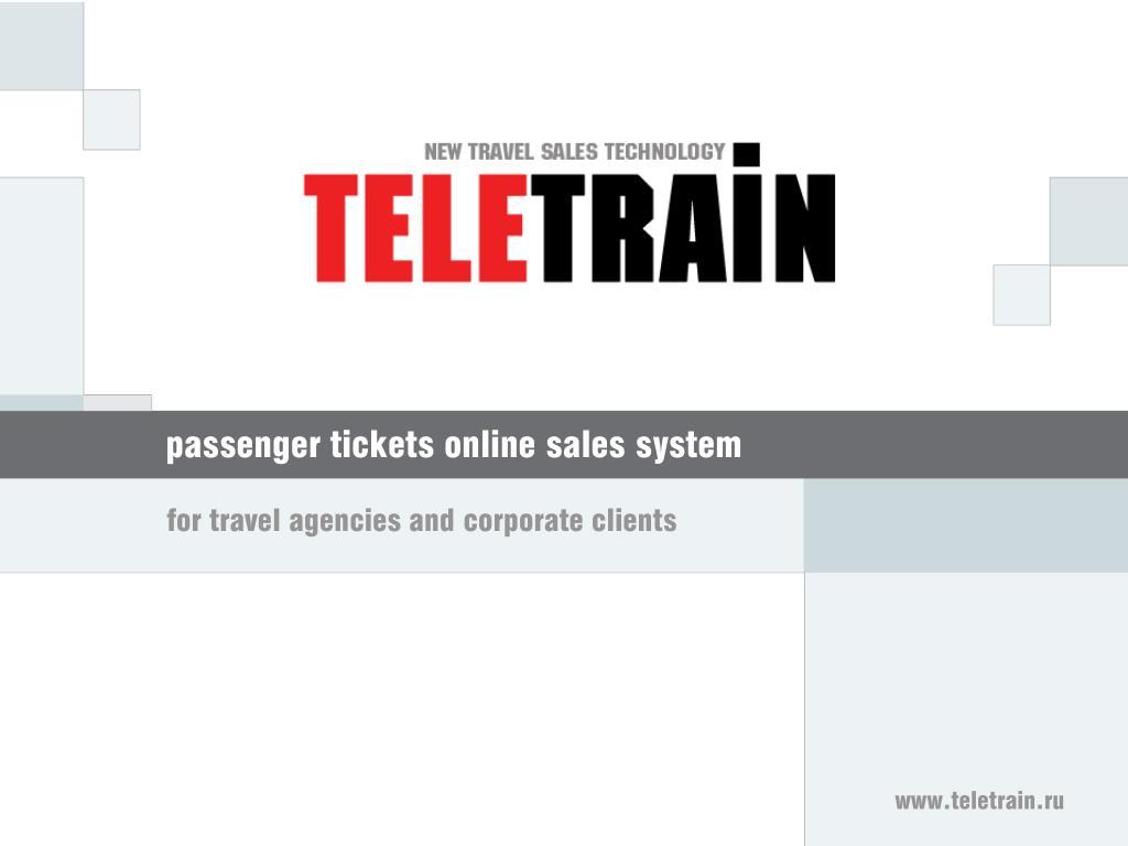 passenger tickets online sales system