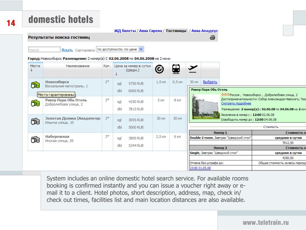 domestic hotels