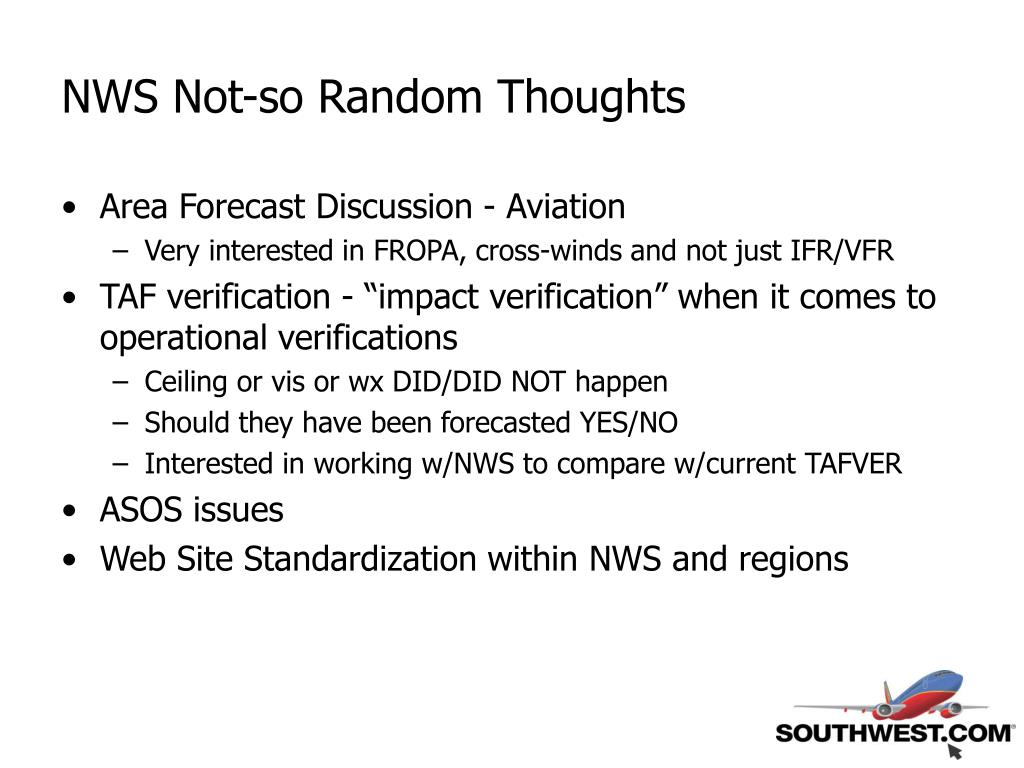 NWS Not-so Random Thoughts