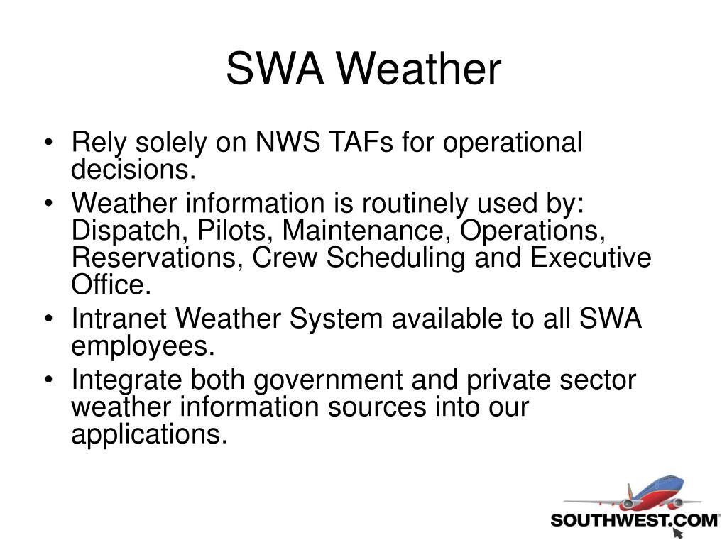 SWA Weather