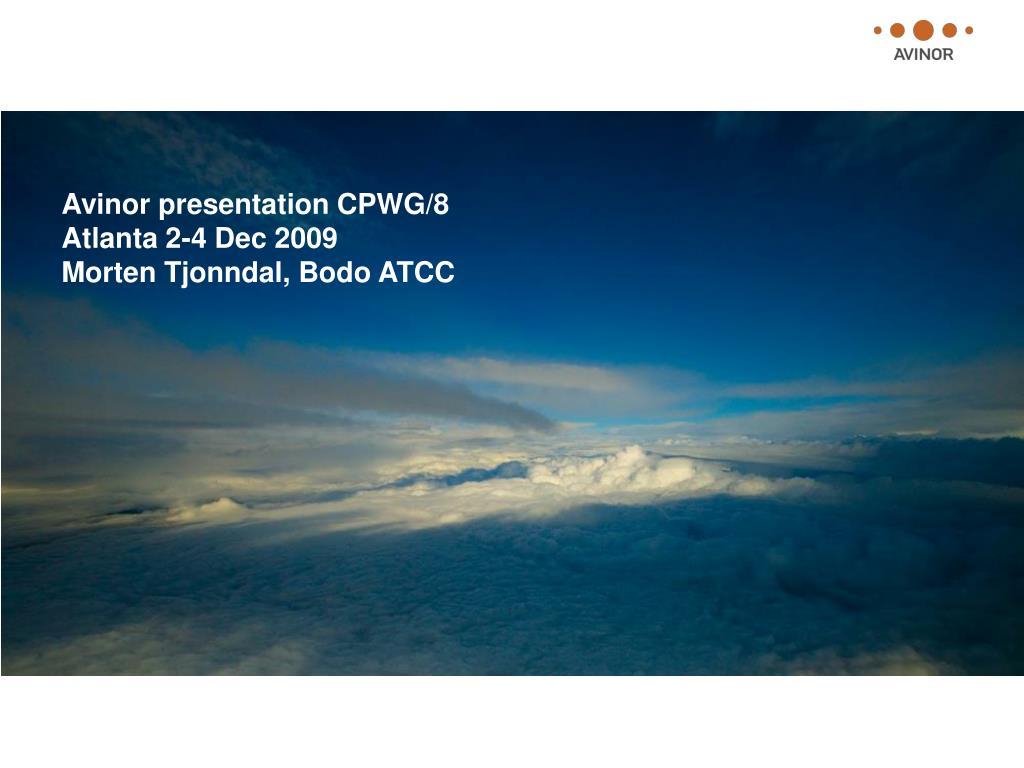 Avinor presentation CPWG/8