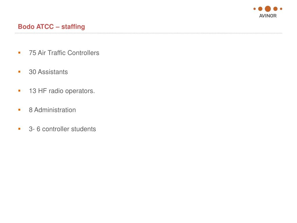 Bodo ATCC – staffing