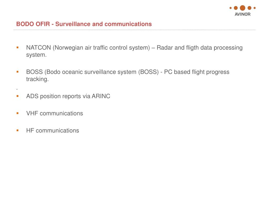 BODO OFIR - Surveillance and communications
