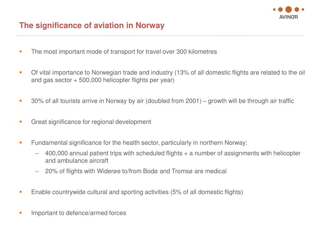 The significance of aviation in Norway