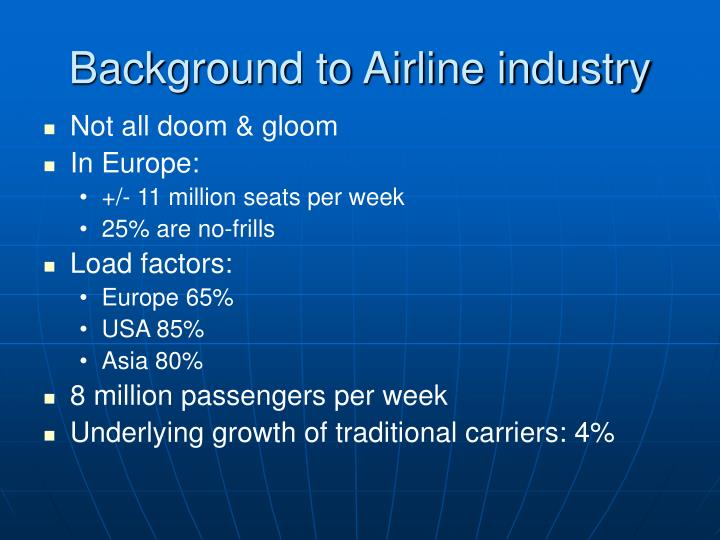 Background to airline industry