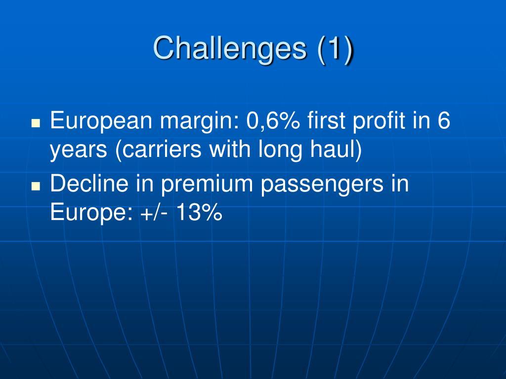 Challenges (1)