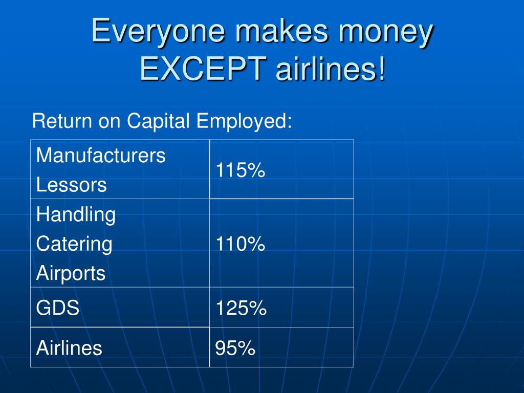 Everyone makes money EXCEPT airlines!
