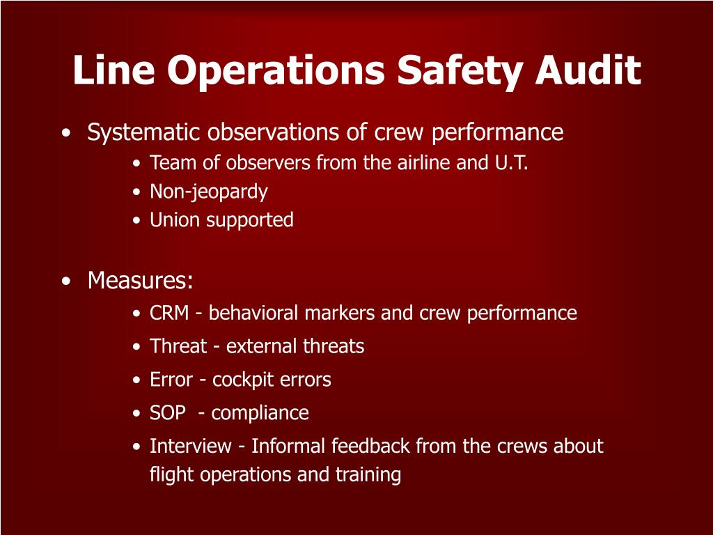Line Operations Safety Audit