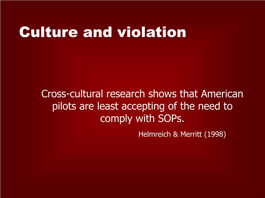 Culture and violation