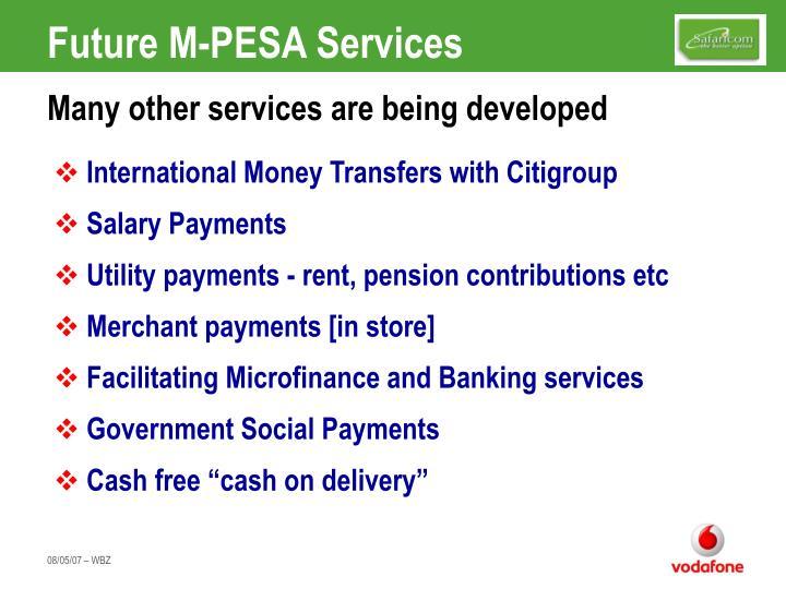 Future M-PESA Services