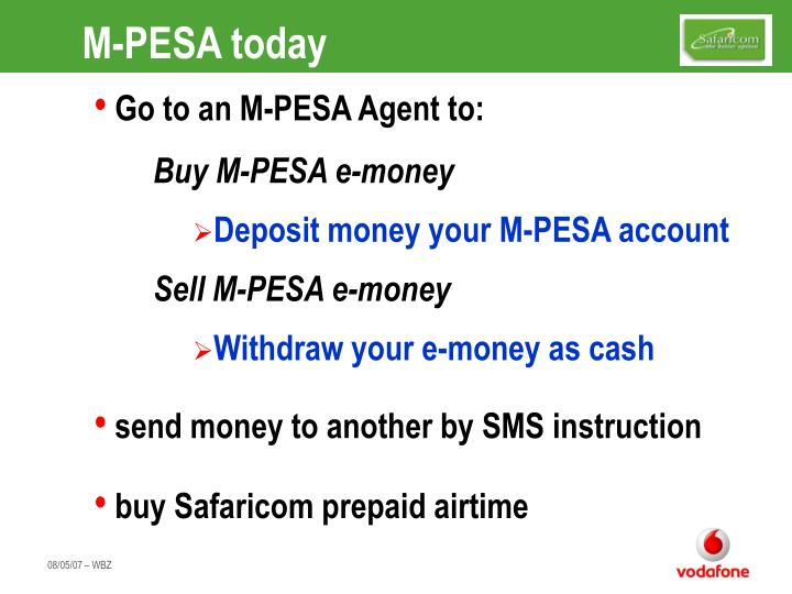 M-PESA today