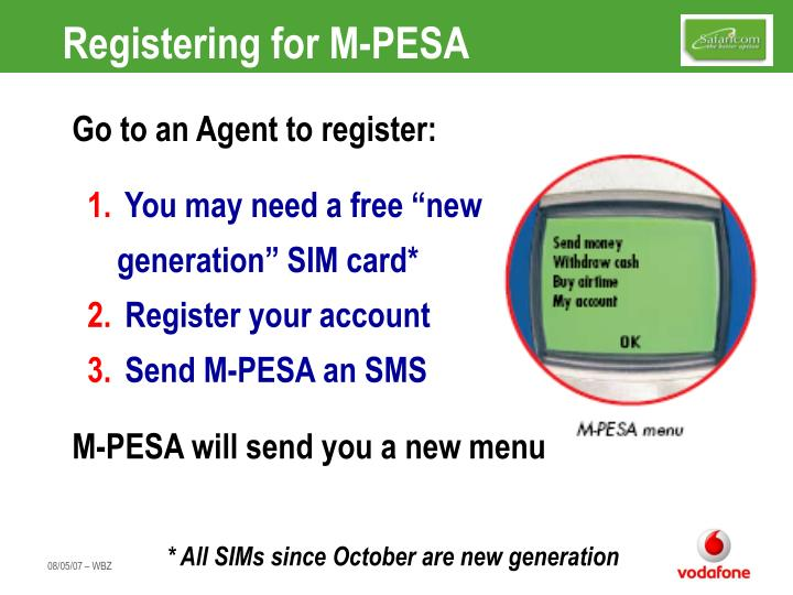 Registering for M-PESA