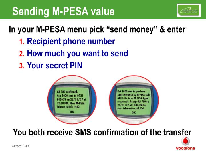 Sending M-PESA value