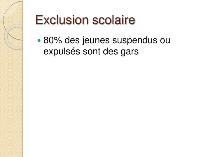 Exclusion scolaire