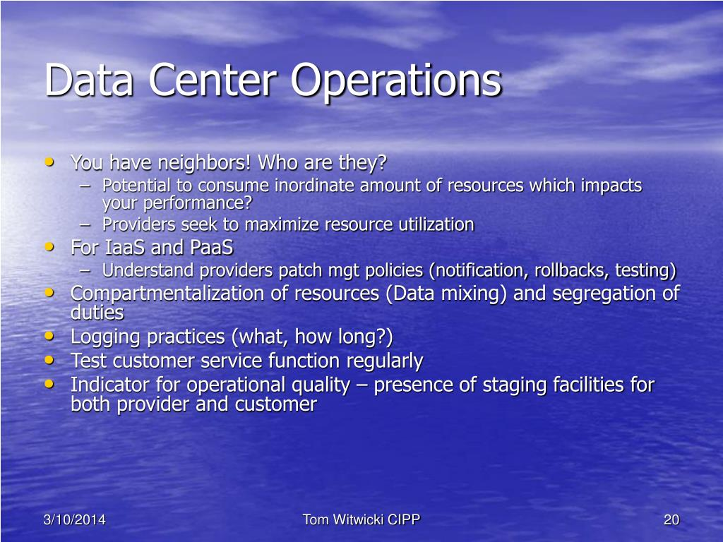 Data Center Operations