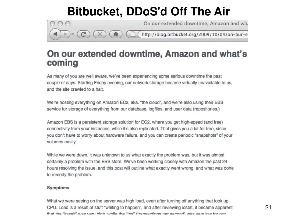 Bitbucket, DDoS'd Off The Air