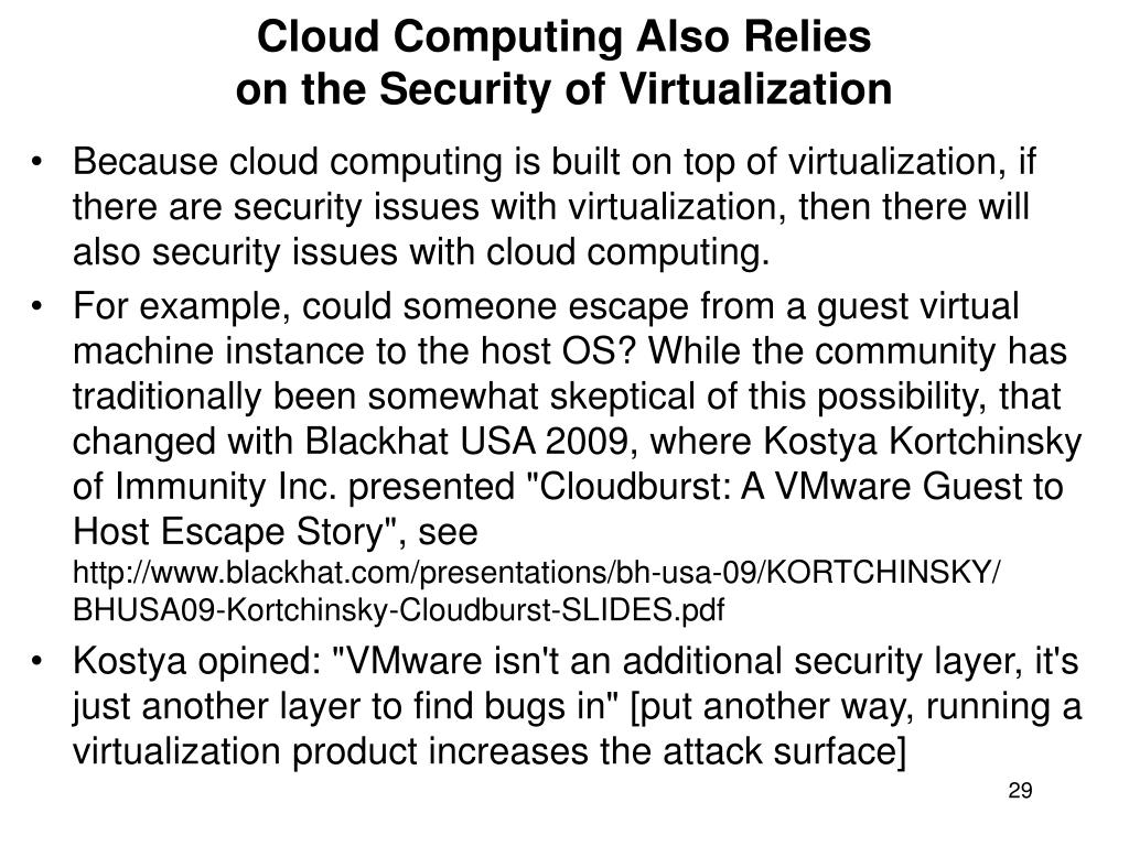 Cloud Computing Also Relies
