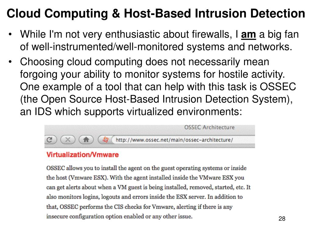Cloud Computing & Host-Based Intrusion Detection