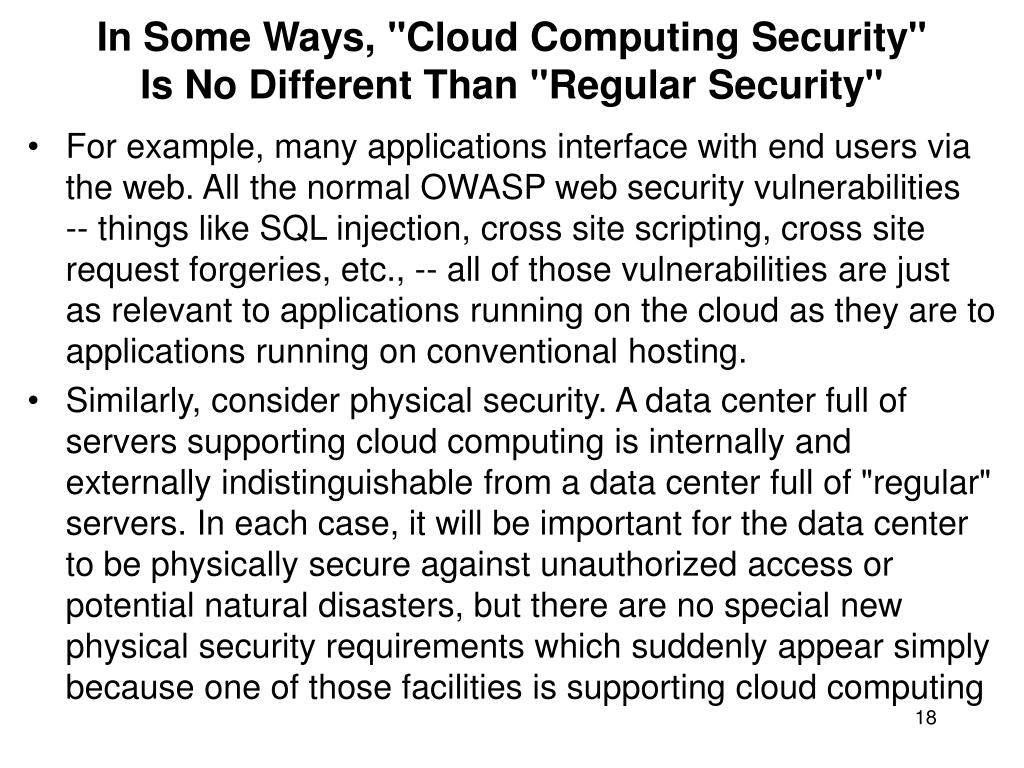"In Some Ways, ""Cloud Computing Security"""