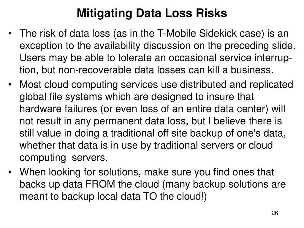 Mitigating Data Loss Risks
