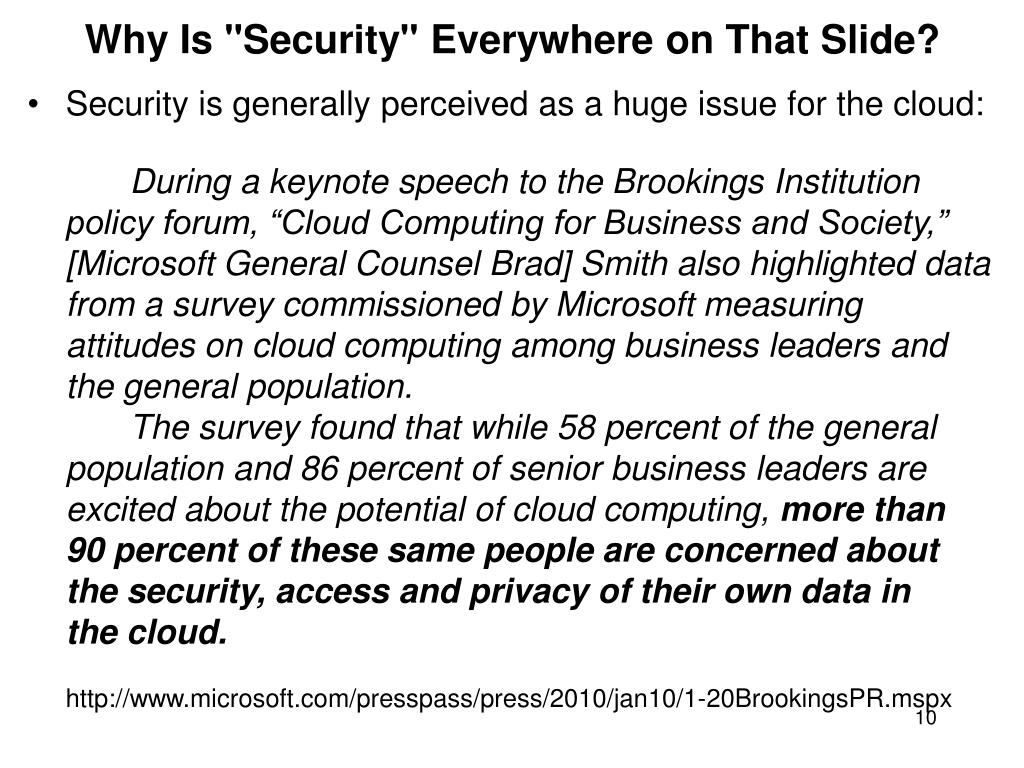 "Why Is ""Security"" Everywhere on That Slide?"