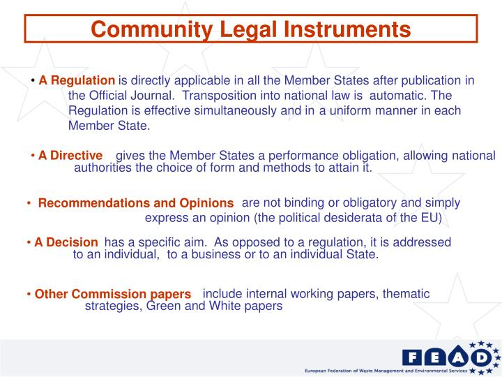 Community Legal Instruments