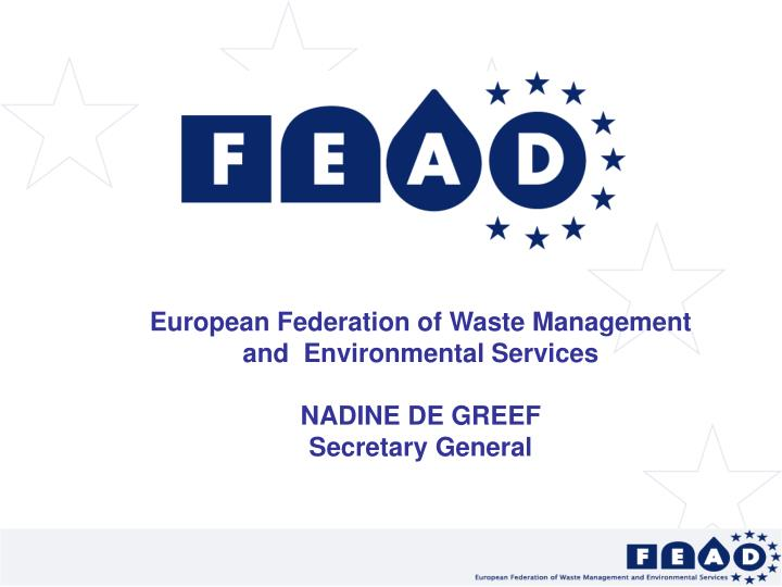 European Federation of Waste Management and  Environmental Services