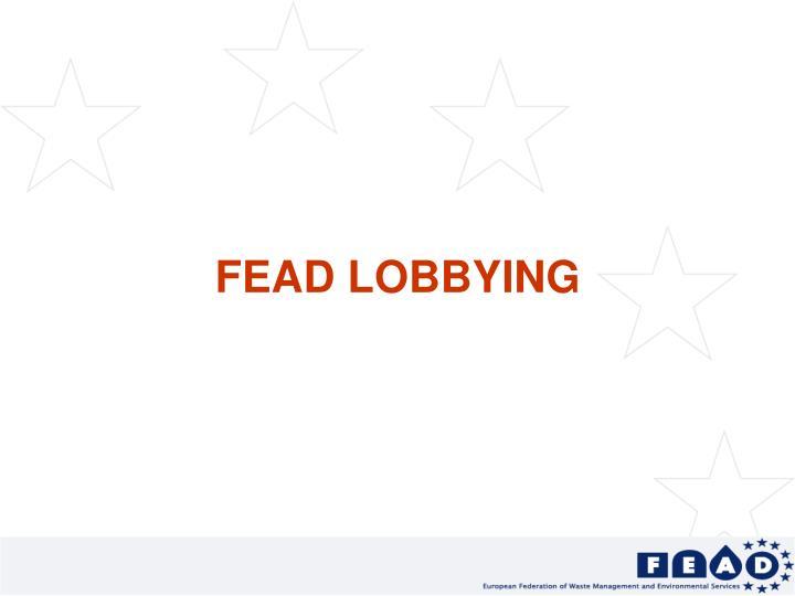 FEAD LOBBYING
