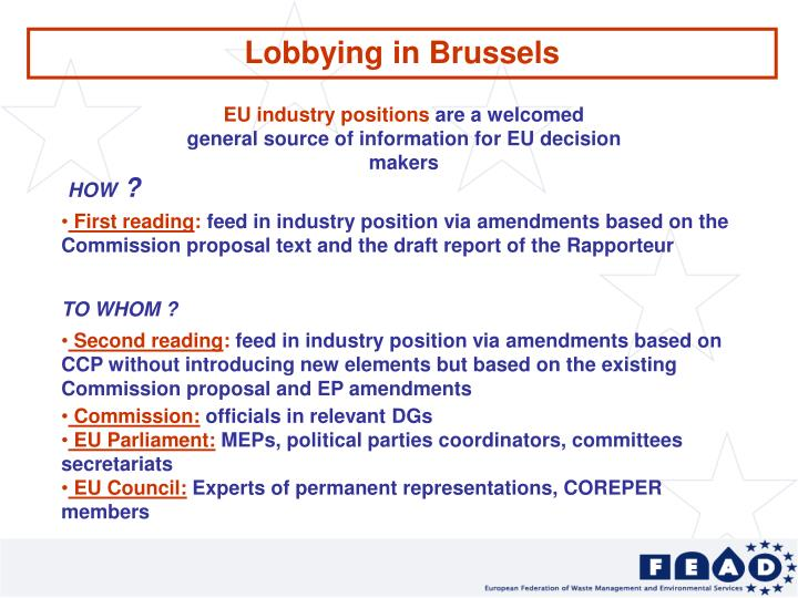 Lobbying in Brussels