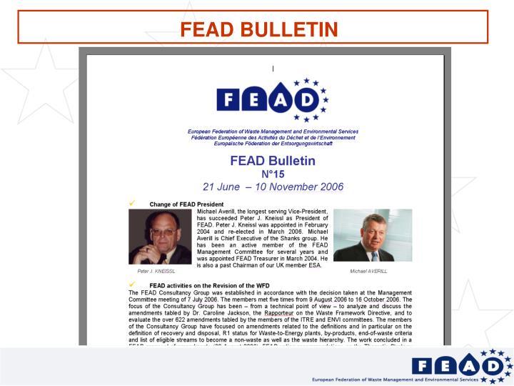 FEAD BULLETIN