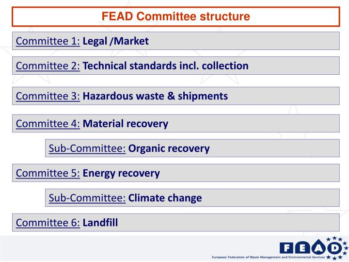 FEAD Committee structure