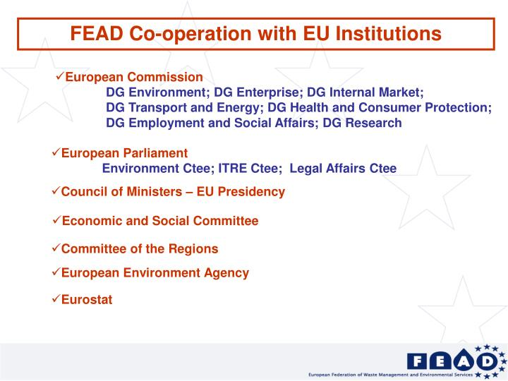 FEAD Co-operation with EU Institutions