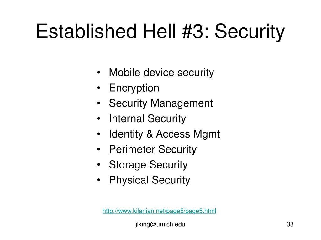 Established Hell #3: Security