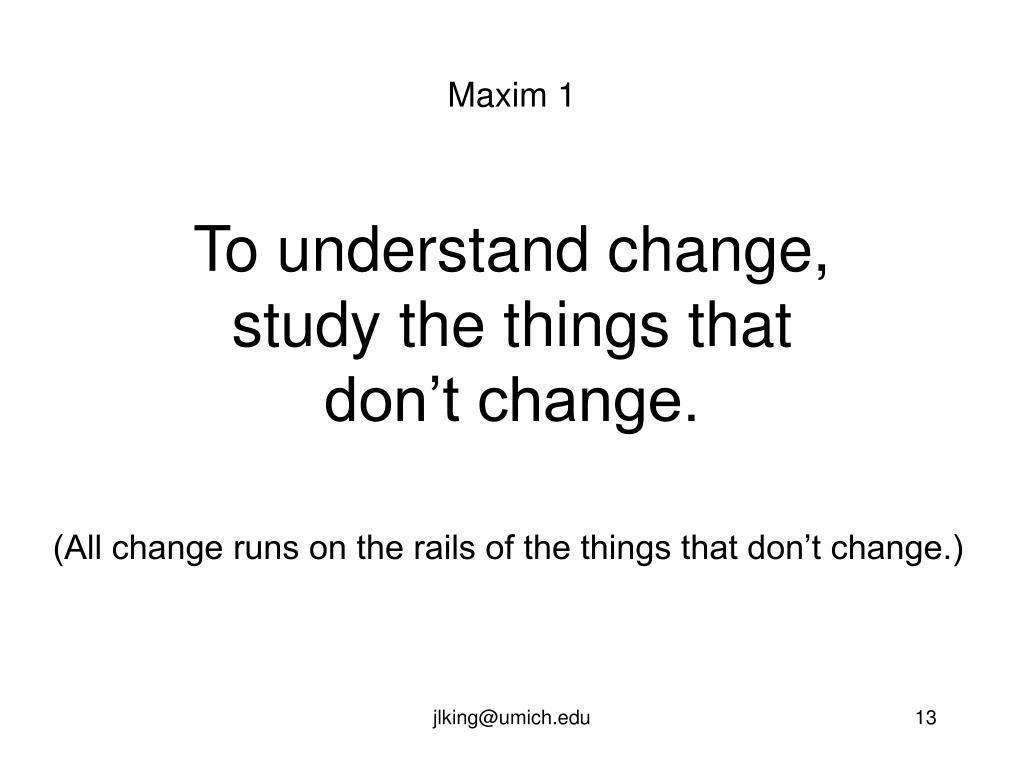 Maxim 1