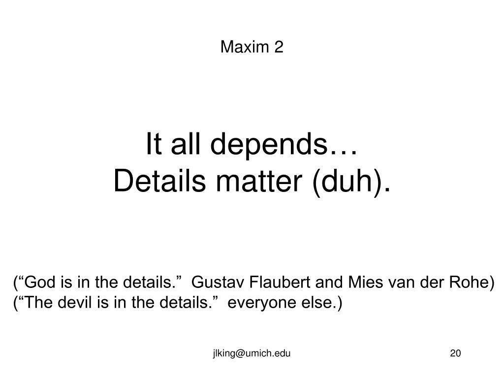 Maxim 2