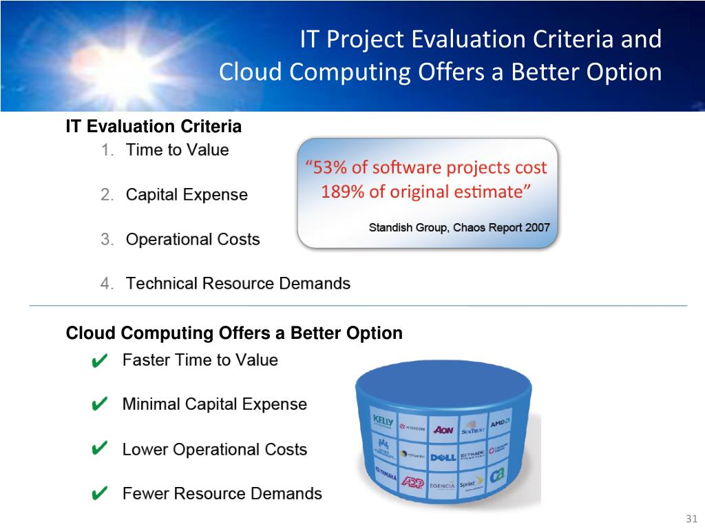 IT Project Evaluation Criteria and