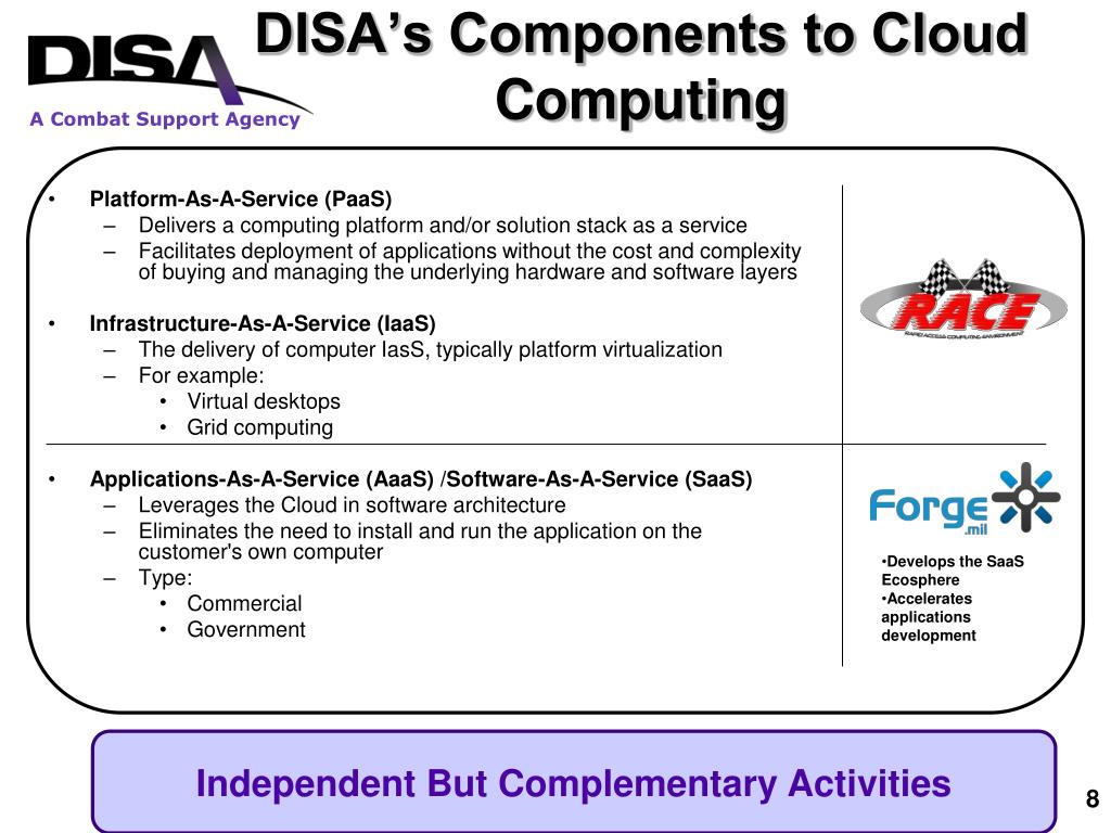 DISA's Components to Cloud Computing