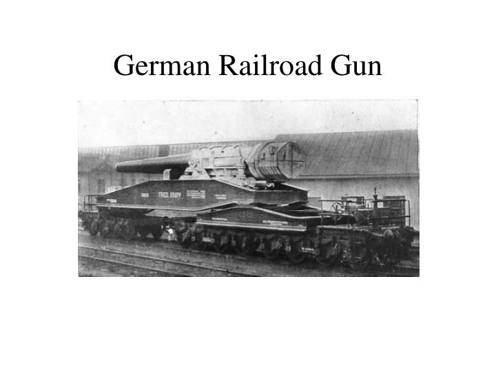 German Railroad Gun