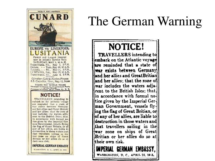 The German Warning