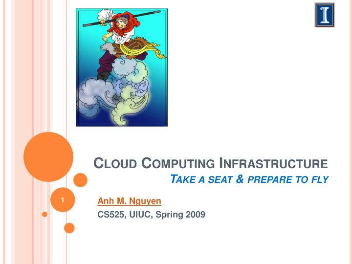 Cloud c omputing infrastructure take a seat prepare to fly