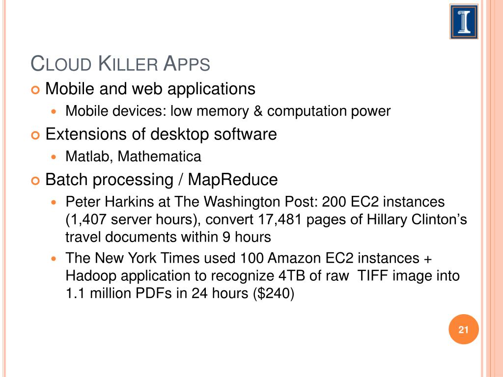 Cloud Killer Apps