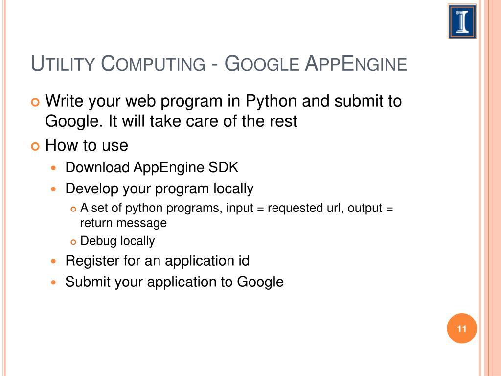 Utility Computing - Google