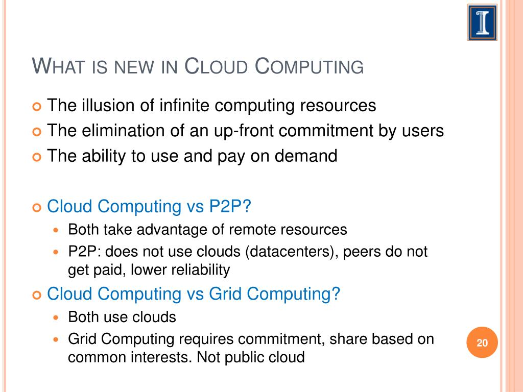 What is new in Cloud Computing