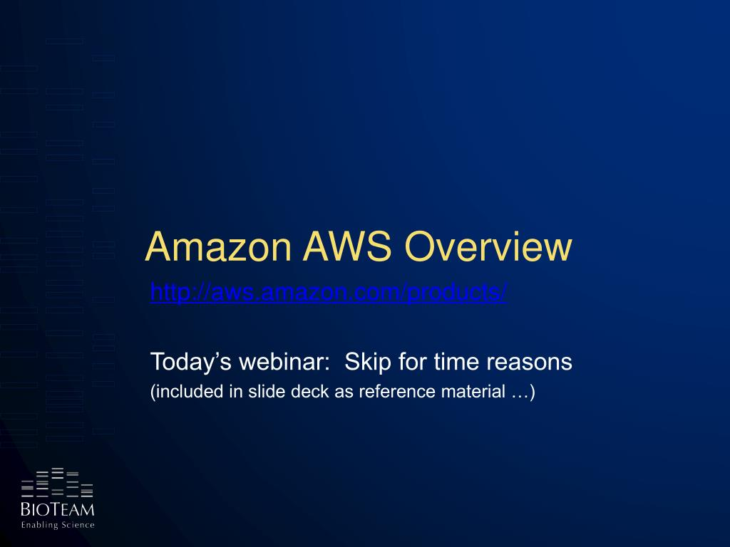 Amazon AWS Overview