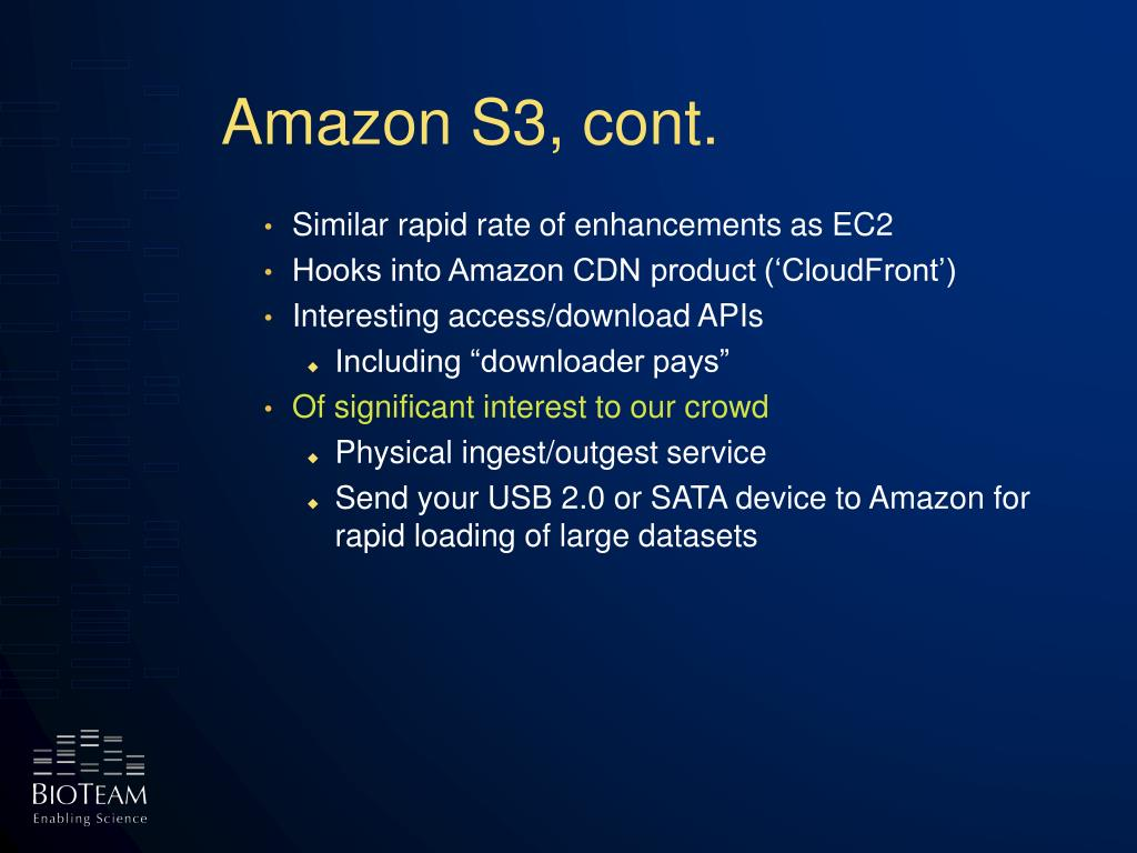 Amazon S3, cont.