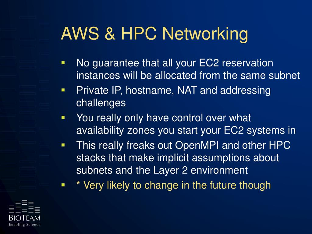 AWS & HPC Networking