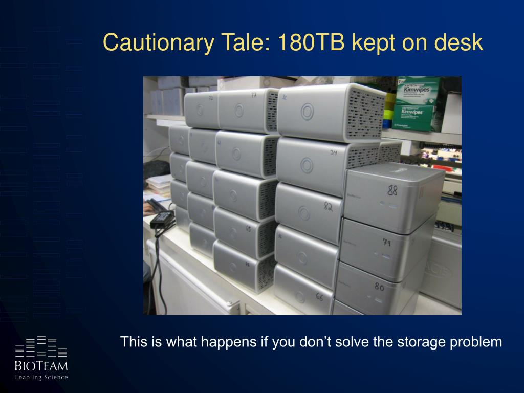 Cautionary Tale: 180TB kept on desk